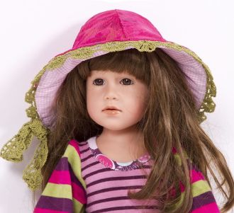 E-Pattern Reversible Hat CLOCHE Ladies Girls Dolls